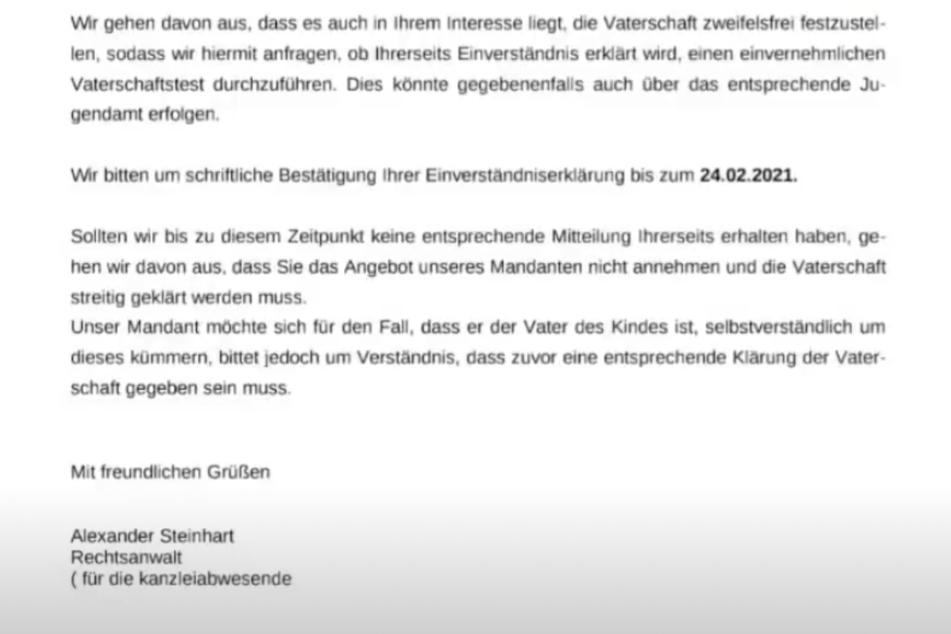Damit wehrt sich der Thüringer gegen die Vorwürfe, seine Tochter verleugnet zu haben.