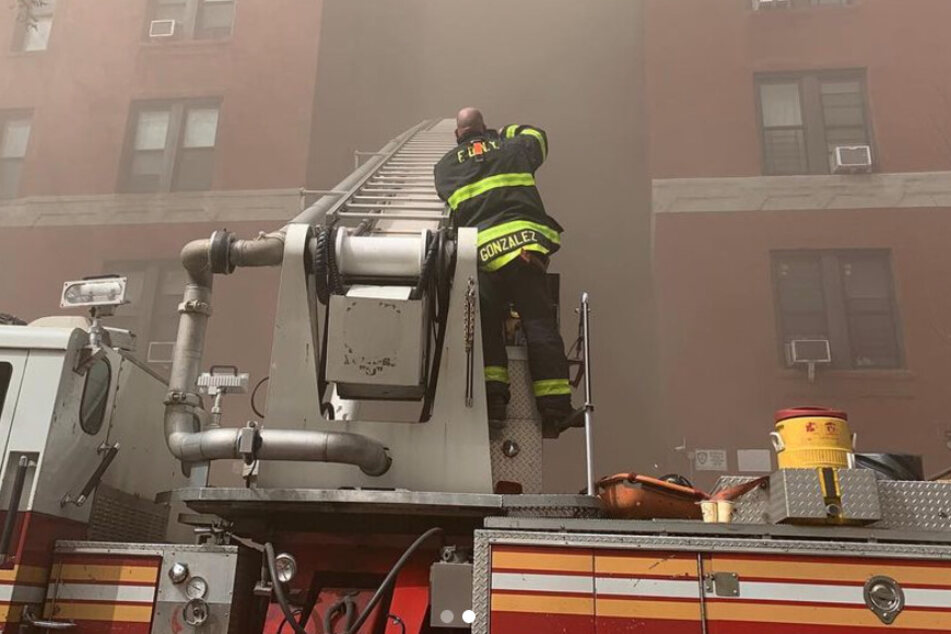 Firefighters have been tirelessly fighting the flames since 1 p.m. on Tuesday.
