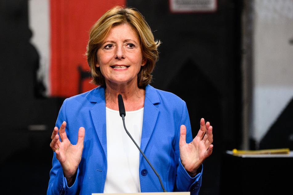 Malu Dreyer (SPD), Ministerpräsidentin von Rheinland-Pfalz, spricht auf dem digitalen Parteitag. Dreyer will bei der Landtagswahl am 14. März 2021 wieder als Direktkandidatin in Trier kandidieren.