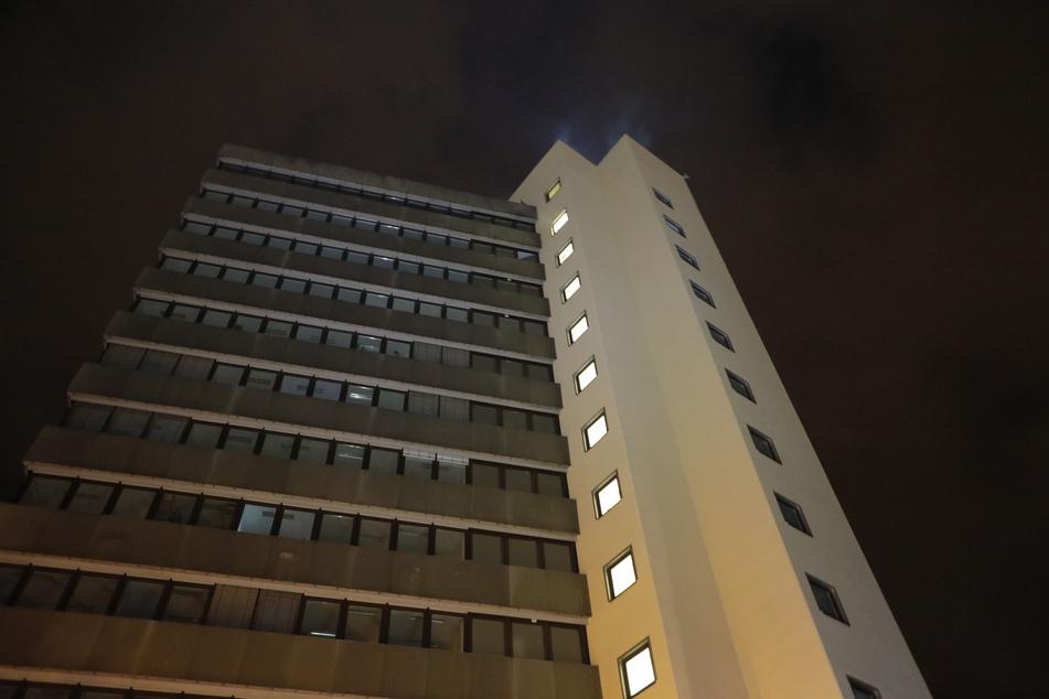 """Das Feuer war in der zwölften Etage des Technologieparks """"Heckert"""" ausgebrochen."""
