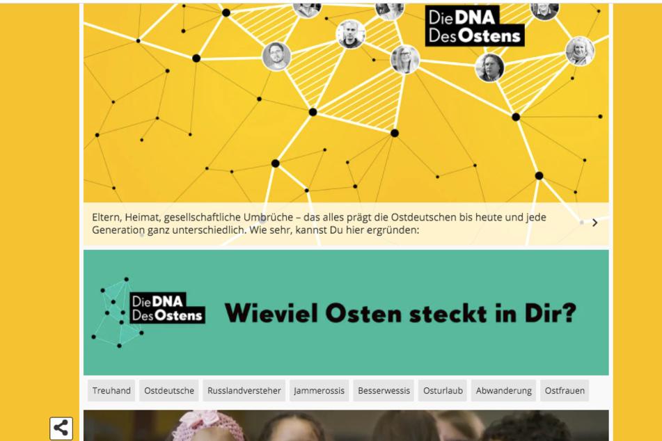 """Gibt's eine """"Ossi-DNA""""? Ein neues Angebot vom MDR geht der Sache auf den Grund."""