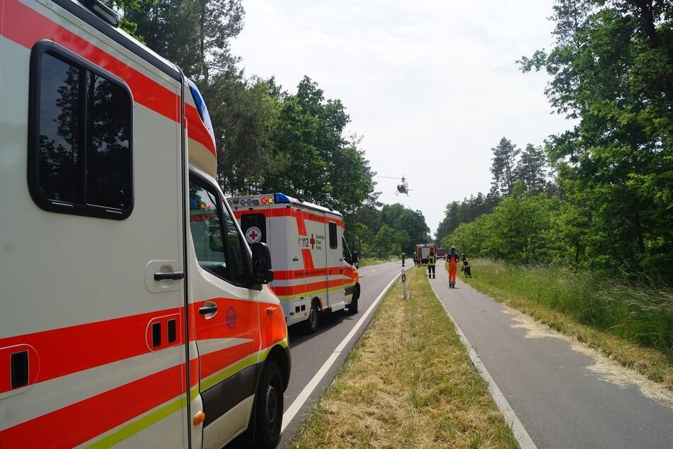Mehrere Rettungskräfte und auch ein Hubschrauber waren am Dienstag im Einsatz,
