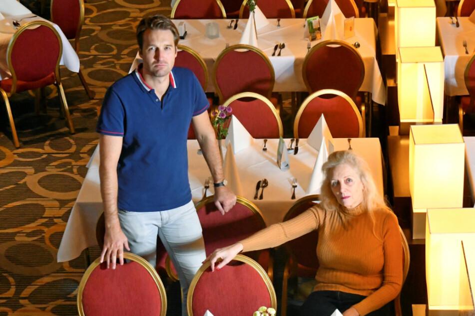 """Bastei-Chefin Petra Morgenstern (62) und ihr Sohn Kai Reiße (36) sind sauer über den """"Lockdown Light""""."""