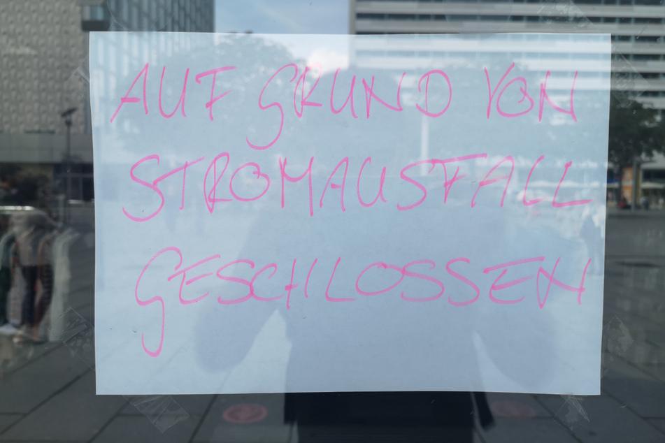 Manche Läden sind aufgrund des Blackouts geschlossen.