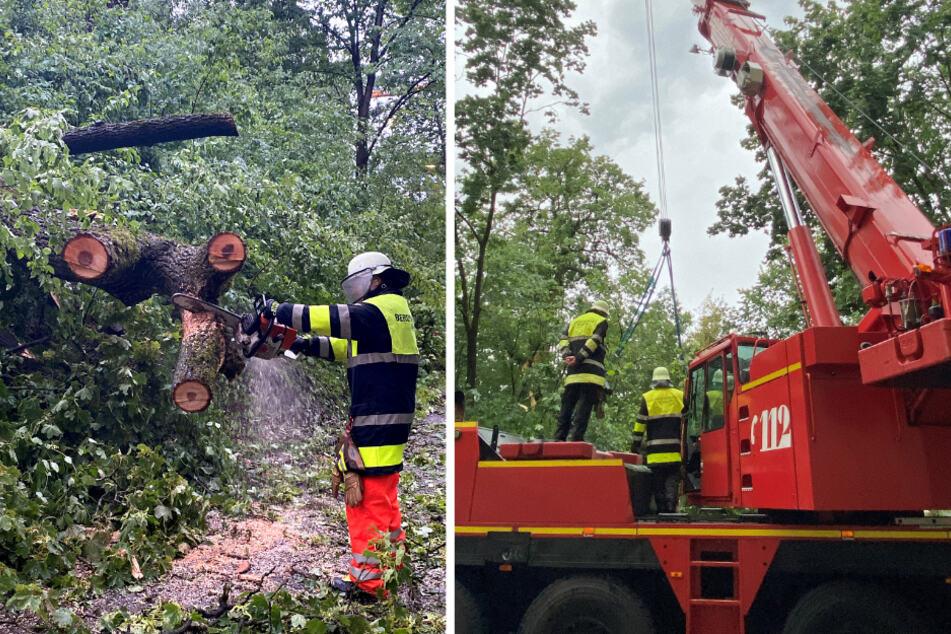 München: Gewitter über München halten Feuerwehr in Atem