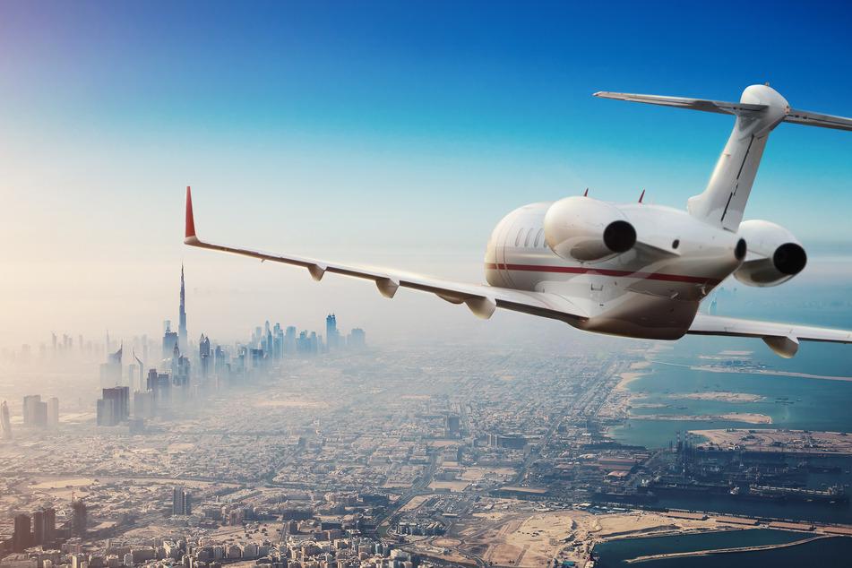 Luxus-Jetliner wie dieser verursachen einen enormen Ausstoß von CO2.