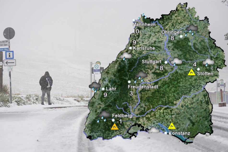 Drei Zentimeter hoch: Der erste Schnee ist da!
