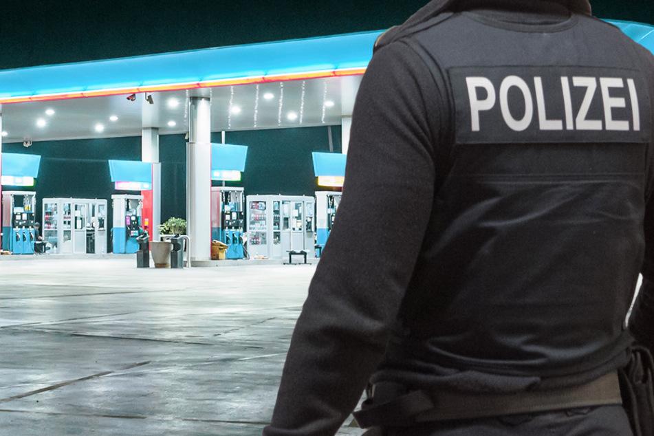 Messer-Mann überfällt Tankstelle in Würzburg: Wer hat den Täter gesehen?