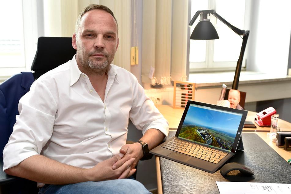 Der Augustusburger Bürgermeister Dirk Neubauer beschäftigte sich schon mit dem Thema Digitalisierung, bevor er in die Politik ging.