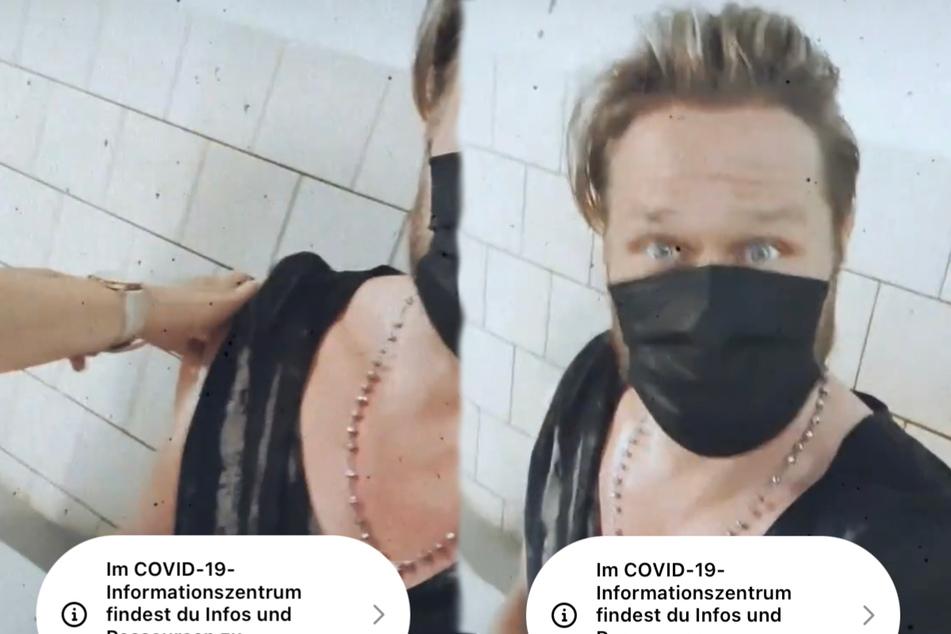 Nico Schwanz (43) hat sich gegen das Coronavirus impfen lassen. Die Impfung filmte er mit seinem Smartphone.