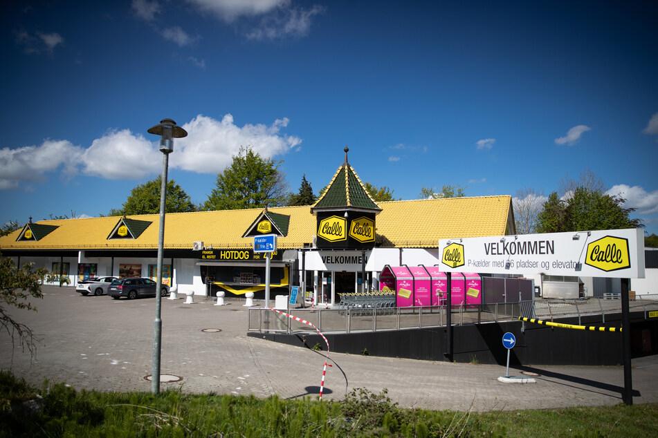 Blick auf eine Filiale der dänischen Supermarktkette Calle.