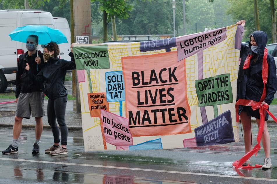 In Leipzig wurde heute gegen Rassismus protestiert.