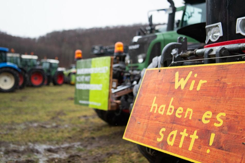 """""""Wir haben es satt"""": Bauern, Klima- und Tierschützer gehen in Berlin auf die Straße"""