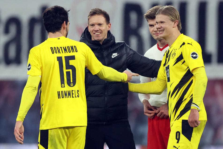 RB-Coach Julian Nagelsmann (33) erwartet eine spannende Partie gegen Dortmund. (Archivbild)