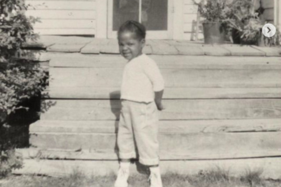 Oprah shared photos from her childhood on Instagram.