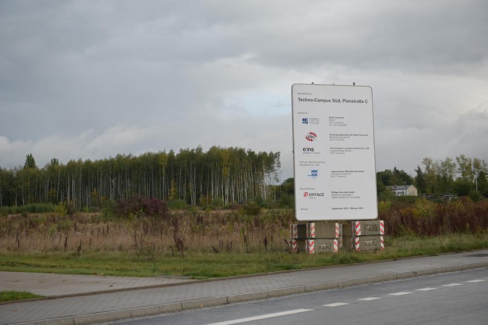 Ein drei Hektar großes Bauland an der Fraunhoferstraße sorgt für Streit zwischen TU Chemnitz und Wirtschaftsförderung.