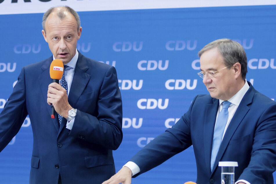 Kann Friedrich Merz (65, CDU, links) Armin Laschet (60, CDU) zum Wahlsieg führen?