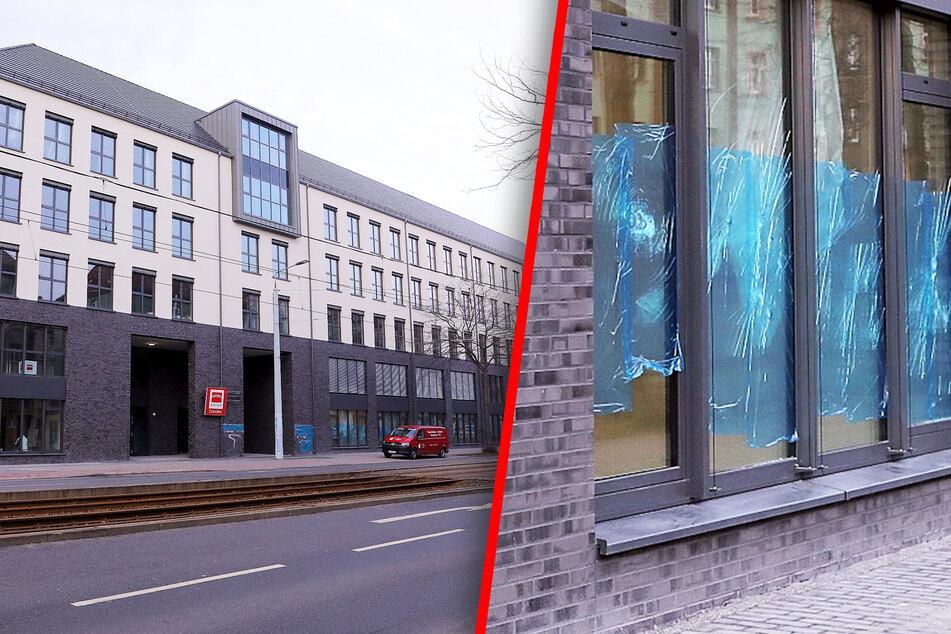 Attacke auf neues Bürogebäude an Großenhainer Straße: Schaden in sechsstelliger Höhe!