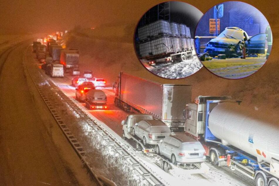 Massenhaft Unfälle in Sachsen: 42-Jähriger kommt ums Leben