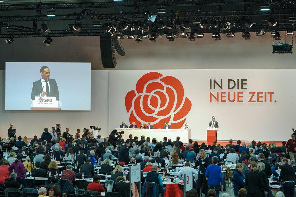 Heiko Maas (SPD), Außenminister, spricht beim SPD-Bundesparteitag.