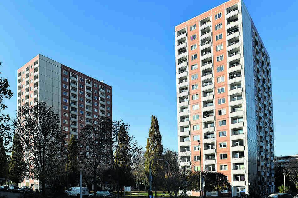 DDR-Hochhäuser am Jakob-Winter-Platz in Prohlis. Gibt es hier viele Corona-Infektionen?