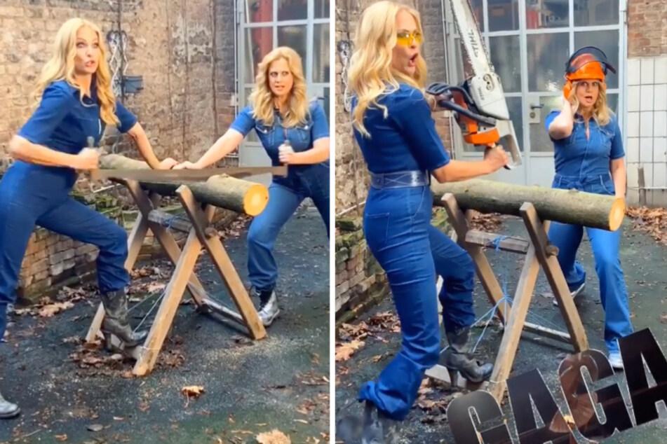 Blödsinn in blond: Sonya und Barbara mischen Foto-Shooting auf