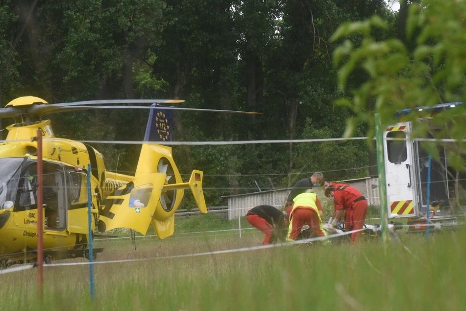 Rettungshubschrauber brachten die Verletzten ins Krankenhaus.