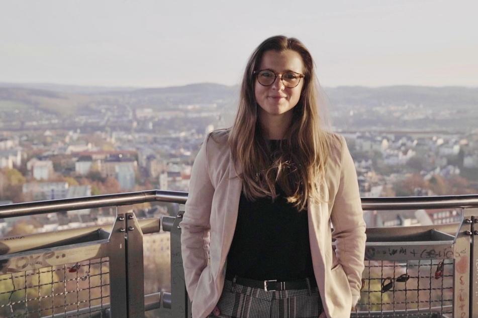 Will hoch hinaus bei der Wahl am 13.Juni: Silvia Queck-Hänel (32) tritt als parteilose Oberbürgermeister-Kandidatin in Plauen an.