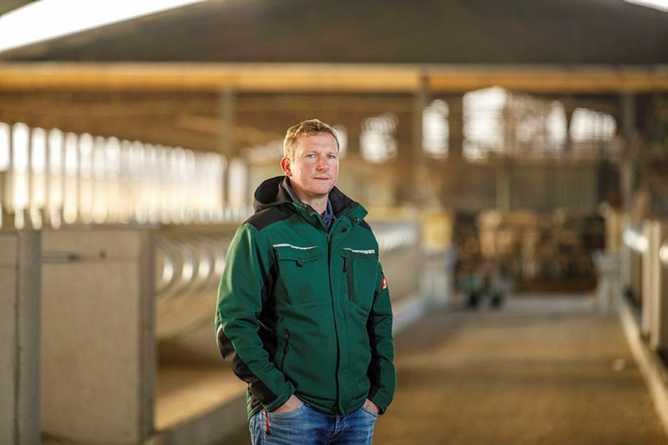 """Thomas Rösner (39) von der Agrar eG Kitzen steckt hinter der """"Die Kuh im Netz""""-Idee."""