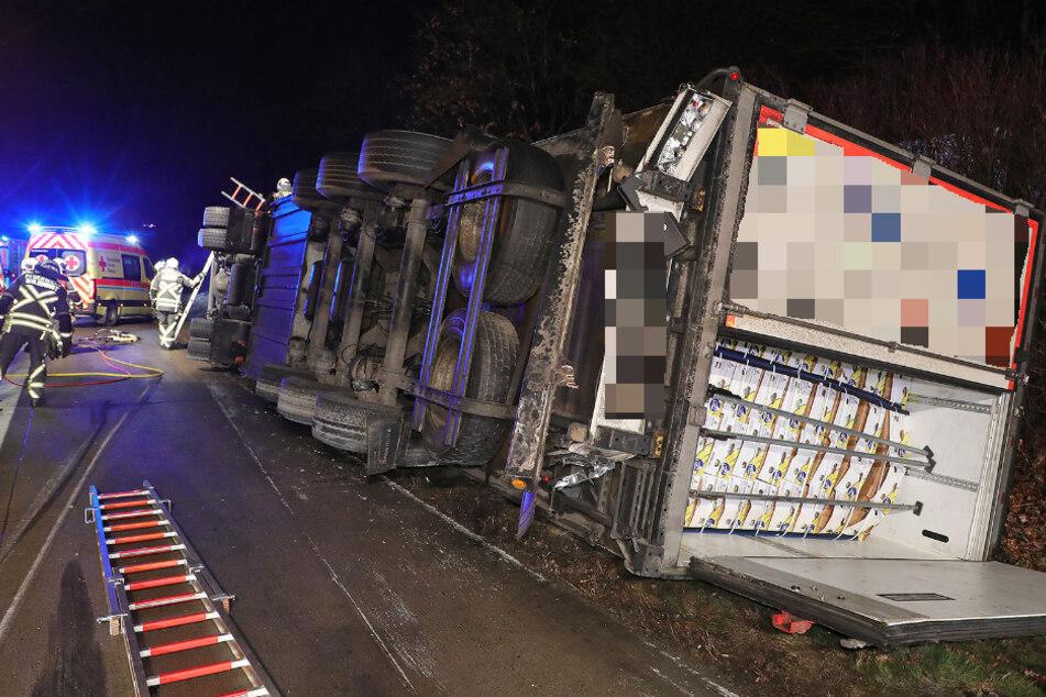 Lkw-Fahrer bei A4-Unfall mit Corona infiziert: Feuerwehrleute müssen in Quarantäne