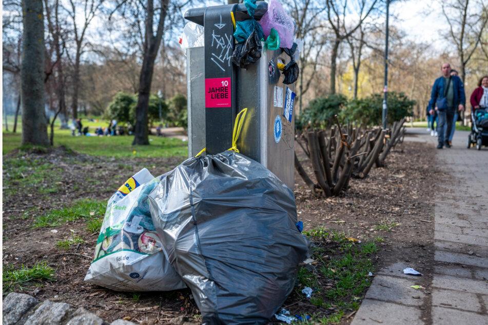 Chemnitz: Ostern im Park: Mehr Müll als Grün in Chemnitz