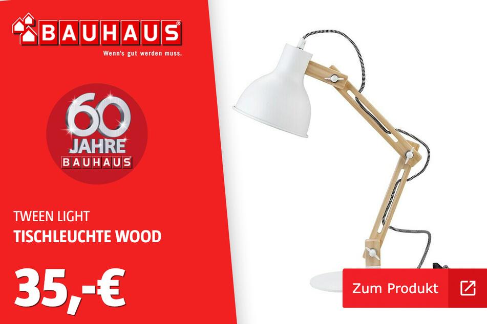 Tischleuchte 'Wood' für 35 Euro.