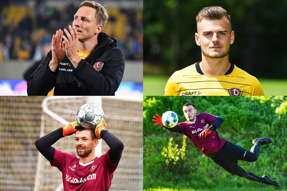 Marco Hartmann (o.l.), Max Kulke (o.r.) sowie Patrick Wiegers (u.l.) und Stefan Kiefer bleiben auch weiter Dynamo-Spieler.