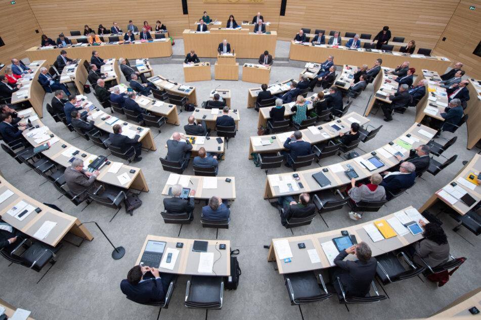 Der Landtag von Baden-Württemberg.