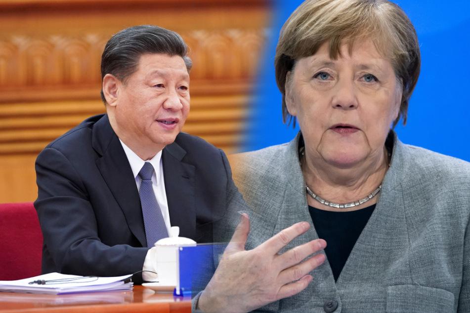 Wollen sich im September mit großem Gefolge in Leipzig treffen: Chinas Staats-Chef Xi Jinping (66, l.) und Bundeskanzlerin Angela Merkel (65, CDU).