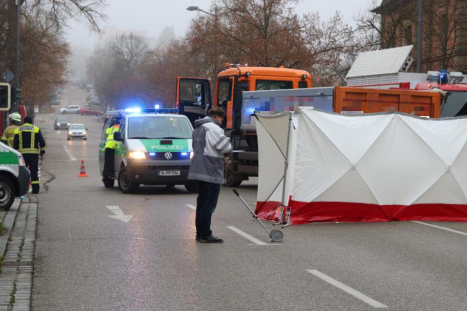 Tödlicher Unfall in Ansbach: Fußgängerin wird von Lkw erfasst und stirbt