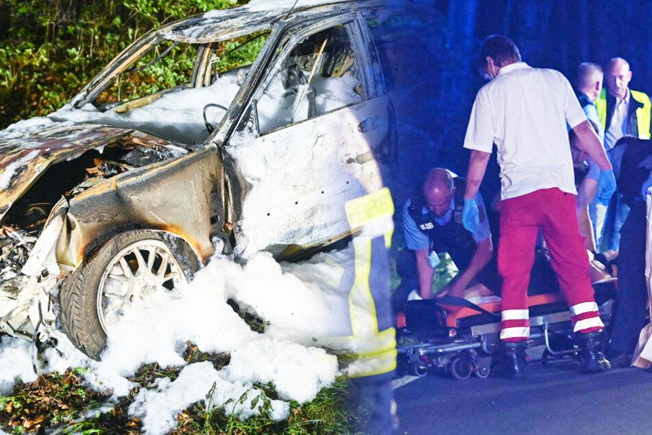 Suff-Fahrer kommt mit Auto von Straße ab, verletzt sich, will aber keine Behandlung