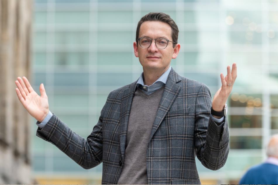 "FDP-Stadtrat Jens Kieselstein (40) wettert in der Sache ""Biergarten Chemnitztalradweg"" gegen die Grünen"