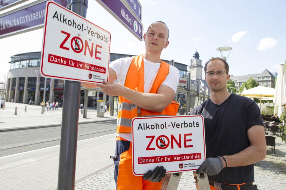 Dass diese Schilder bald abgeschraubt werden, steht derzeit in Plauen zur Debatte.