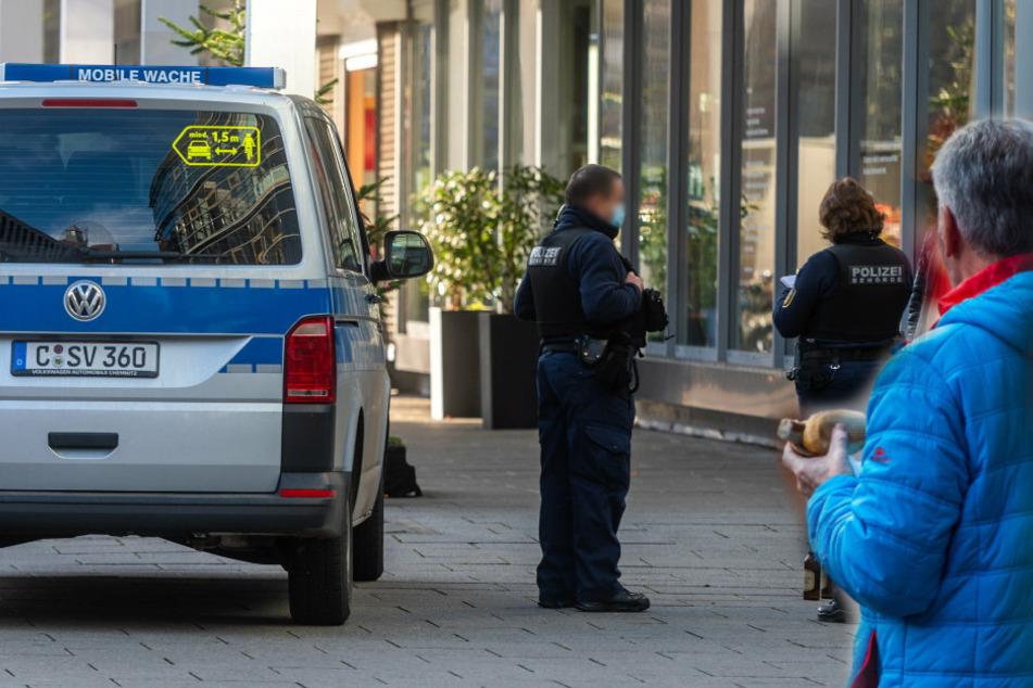 Speisen und Getränke aus der Stadt dürfen nur zu Hause oder im Büro gegessen und getrunken werden. Die Stadt Chemnitz kontrolliert scharf!