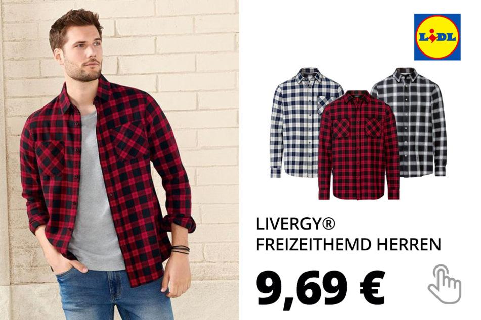LIVERGY® Freizeithemd Herren, aus reiner Baumwolle(nur online)