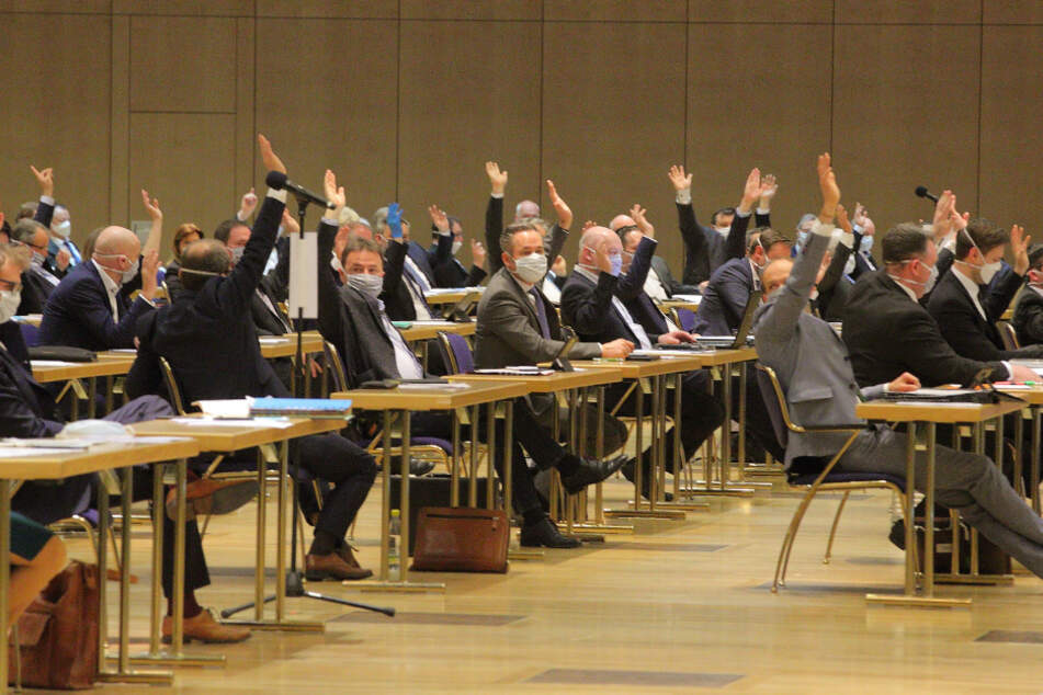 Landtagssondersitzung im ICC am Donnerstag.
