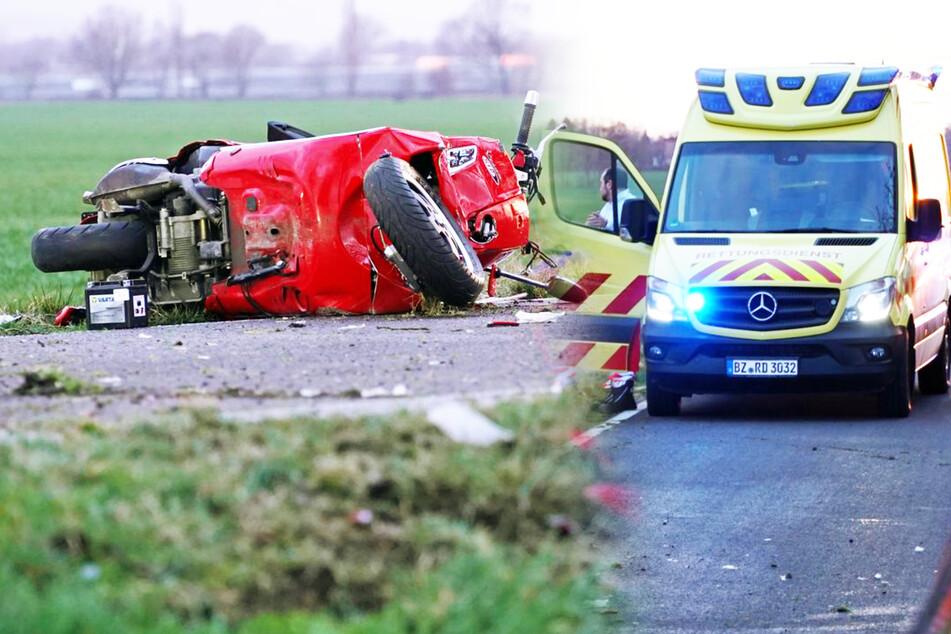 Dramatischer Unfall bei Bautzen: Vespa-Fahrer fährt gegen Baum und stirbt sofort