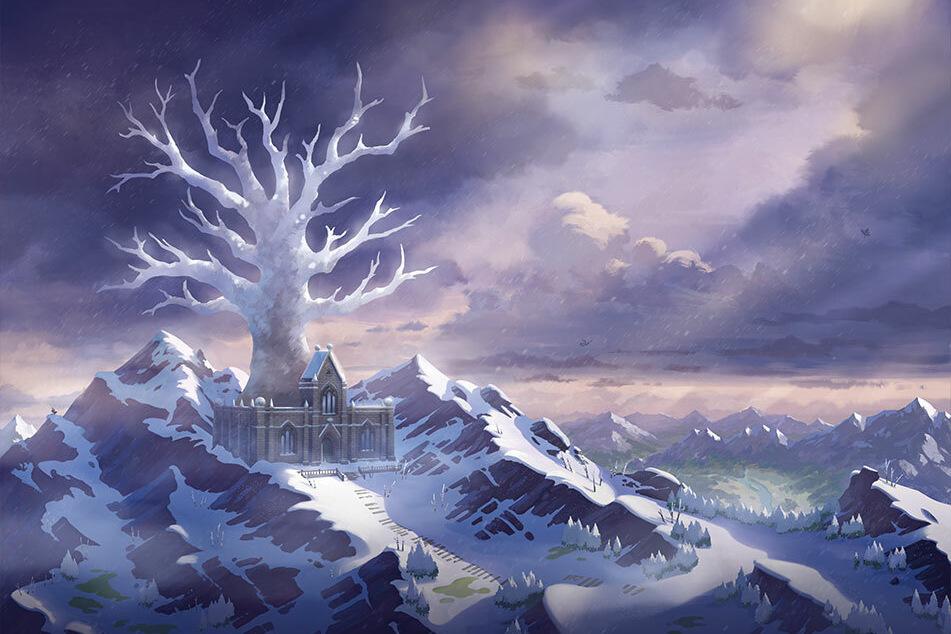 Im Kronentempel, dem obersten Punkt des neuen Gebiets, wartet am Ende das legendäre Pokémon Coronospa auf Euch.