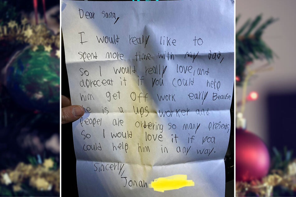 This father shared his son's letter to Santa with online readers.