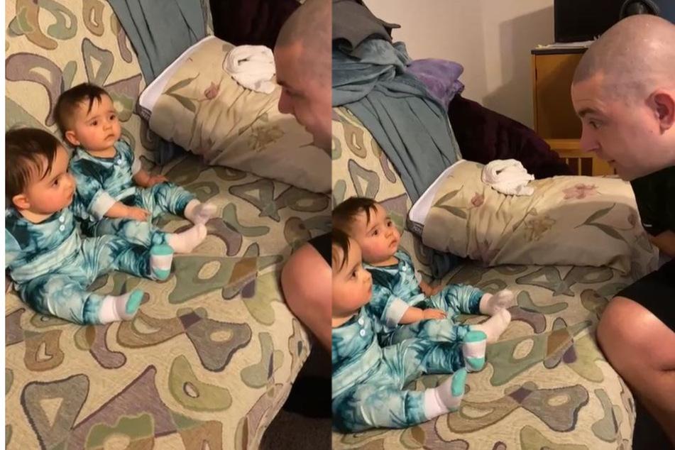 Vater zeigt Babys neuen Look: Über deren Reaktion lachen Millionen