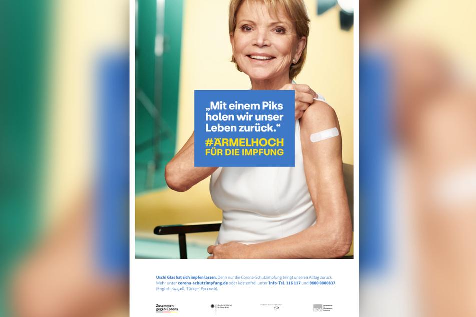 """Die Schauspielerin Uschi Glas (77) wirbt als """"Impfluencer"""" für die Corona-Schutzimpfung."""