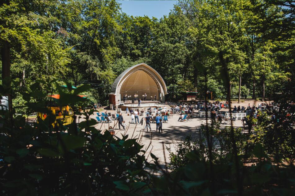 Am Konzertplatz Weißer Hirsch startet und endet das Waldprogramm.
