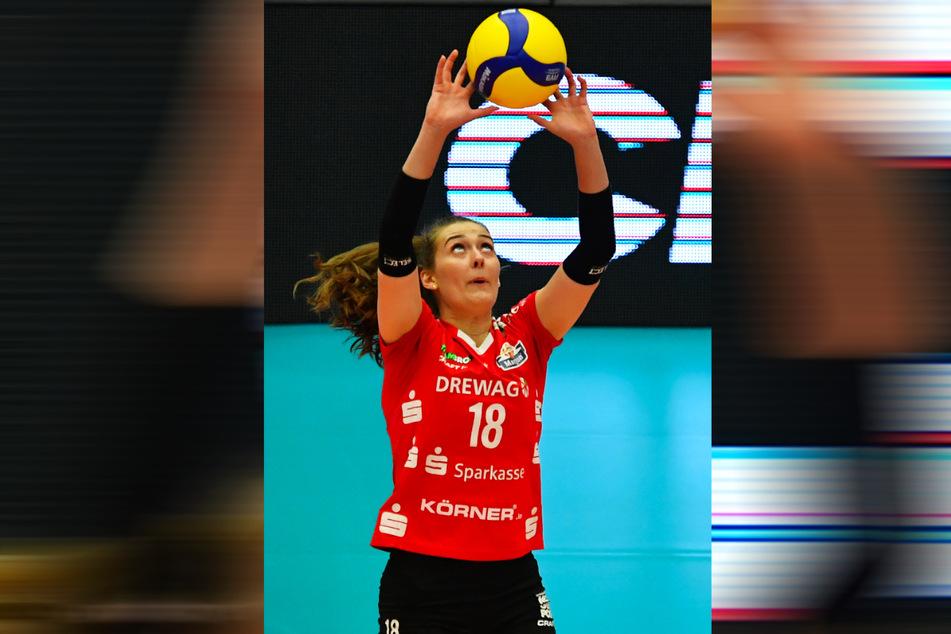 Zuspielerin Sarah Straube (18) brachte im Duell gegen Potsdam die Wende und half somit entscheidend beim Einzug ins Finale mit.