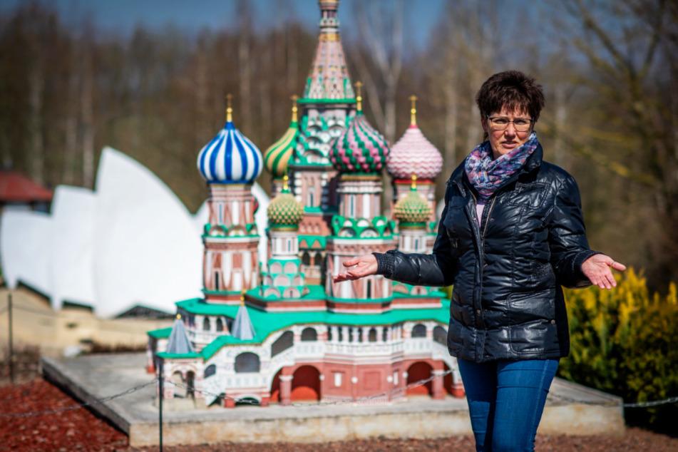 Claudia Schmidt (54) kann derzeit keine Gäste in der Miniwelt Lichtenstein begrüßen.